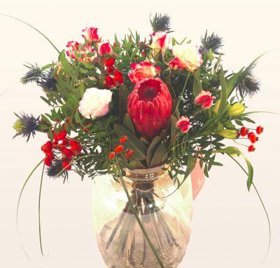 Herbststrauss mit Protea